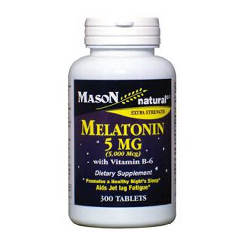 Mason Natural Melatonin 5 mg avec vitamine B-6 comprimés - 300 Ea