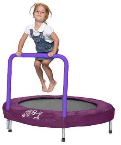 "Trampoline - Bazoongi 48"" Little Bounce Bouncer with Easy Hold Handle Bar - Purple"