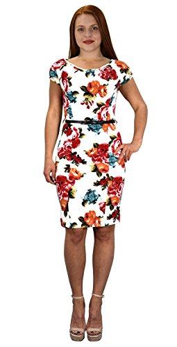 Buy belted lace sheath dress - 2