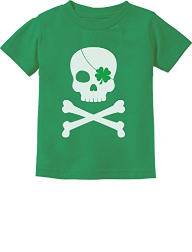 Tstars Irish Clover Skull Cool ST. Patrick's Day Toddler Kids T-Shirt 5/6 Green