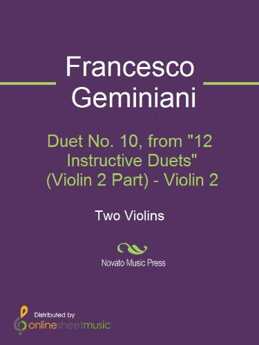 Duet No. 2, from 12 Instructive Duets (Violin 1 Part) - Violin 1