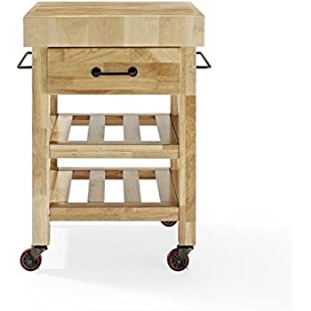 walmart butcher block kitchen cart plans costco this item furniture rolling natural
