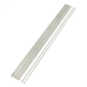10 piezas de Acero inoxidable 300x3mm Ronda Rod Para el aeroplano de RC: Amazon.com: Industrial & Scientific