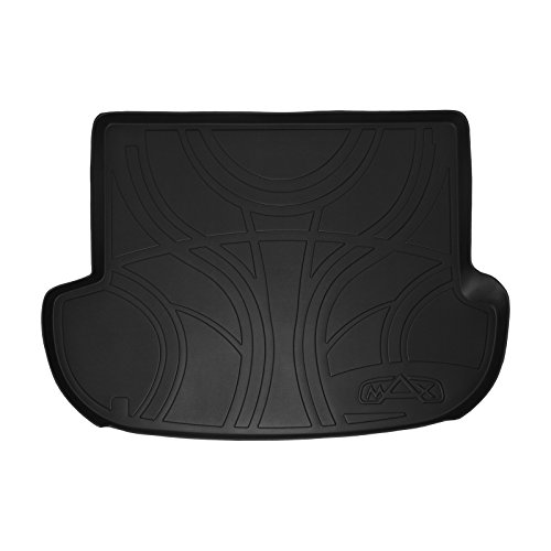 (SMARTLINER All Weather Cargo Liner Floor Mat Black for 2007-2012 Hyundai Santa Fe Without 3rd Row Seat)