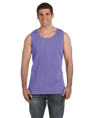 (Comfort Colors Pigment Dyed Tank Top 9360-Violet-L)