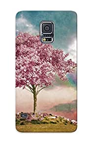 Ellent Design Cherry Tree In The Wind Phone Case For Galaxy S5 Premium Tpu Case For Thanksgiving Day's Gift