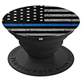 'PopSockets Cell Phone Stands - Smartphones & Tablets - ''Brave New Look Thin Blue Line - Police Off - PopSockets Grip and Stand for Phones and Tablets