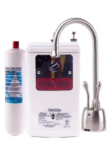 Waste King Madera D721-U-SN Hot / Cold Water Dispenser Faucet and Hot Water Tank - Satin Nickel