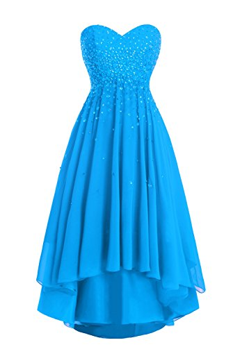 Strapless Beaded Low Women's Ocean Prom High Blue Dress Party Dasior PIv5qB4