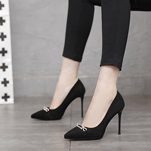 MDRW-Signora/Elegante/Lavoro/Tempo Libero/Primavera b10Cm Tacchi Alti Unico Di Scarpe Scarpe Da Donna Sharp…
