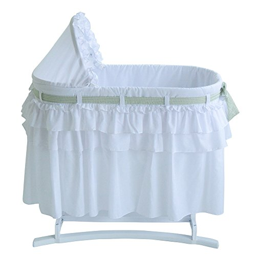 Lamont Good Night Bassinet with Full Skirt and 3 Intercha...