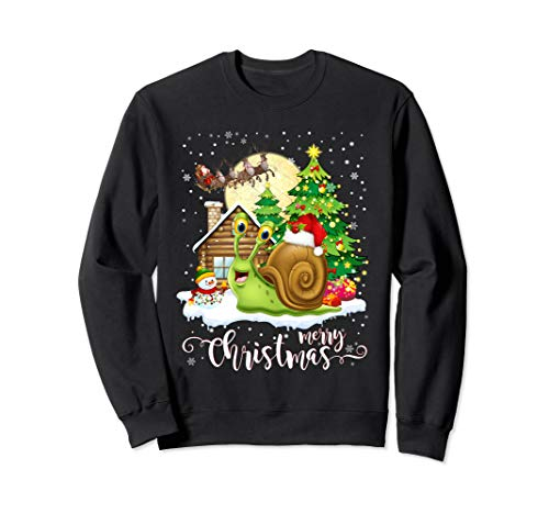 Funny Cute Snail Lover Merry Christmas 2019 Gift Sweatshirt (2019 Jumper Christmas)