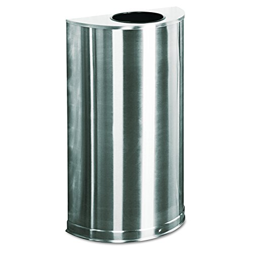 Rubbermaid Commercial FGSO12SSSPL Executive Series Steel Trash Can, 12-Gallon, Satin Stainless Steel