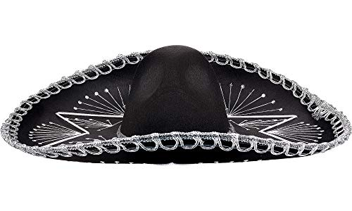 Amscan 391391 Mariachi Hat Party Accessories, One Size, Black