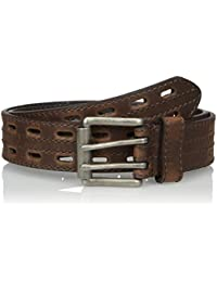 Nocona Men's Hired Brown Double-Hole Belt
