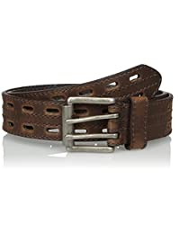 Nocona Belt Company mens Hired Brown Double Hole