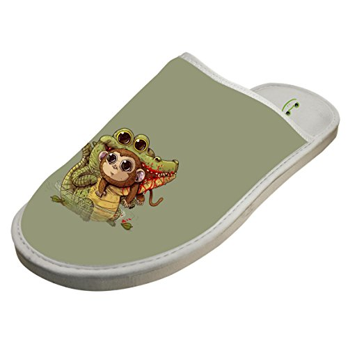 Winter Cotton Adorable Croc Monkey Antiskid House Slippers Baboosh Chinela Slipper by 4B854DF6B