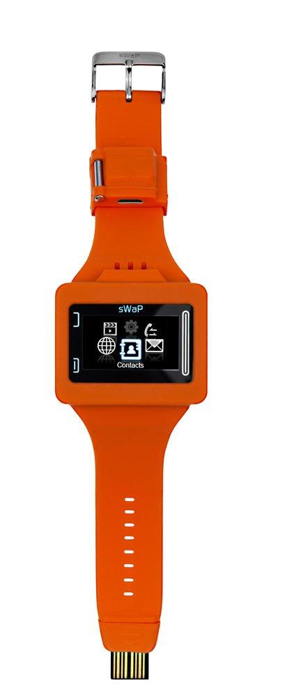 sWaP Rebel - Reloj teléfono de pulsera (libre), color naranja (importado)