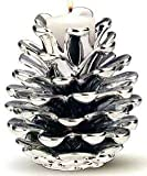 1 , SILVER , Resin , PINE CONE CANDLE