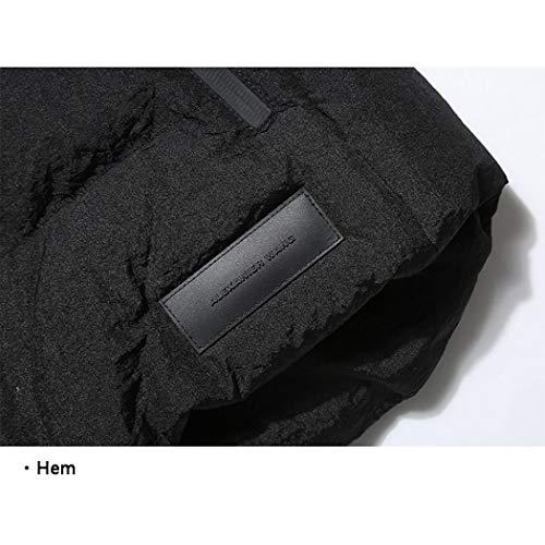 Hommes Chaud Et Polyester 100 Détachable Chapeau Tissu Automne Pour Gris Gjfeng Gilet Noir Hiver Gray 5qRfnxpY