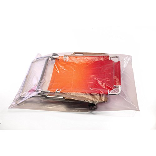 16'' x 30'' x 2 mil Clear Eco-Manufactured Plastic Layflat Bags (Case of 500) by Smart Tech Plastic Bags