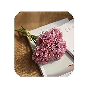 Artificial Flowers Peony Bouquet for Wedding Decoration 5 Heads Peonies Fake Flowers Home Decor Silk Hydrangeas Flower,3 30