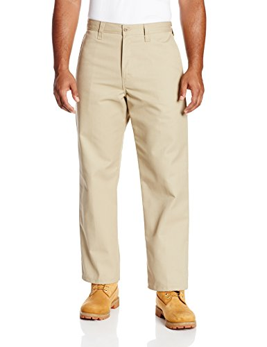 Dickies Occupational Workwear LP812DS 50x32 Polyester/ Cotton Relaxed Fit Men's Industrial Flat Front Pant with Straight Leg, 50
