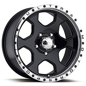 ULTRA 175B Rogue Rim 17X8 6×5.5 +10 Gloss Black Diamond Cut (Qty of 1)