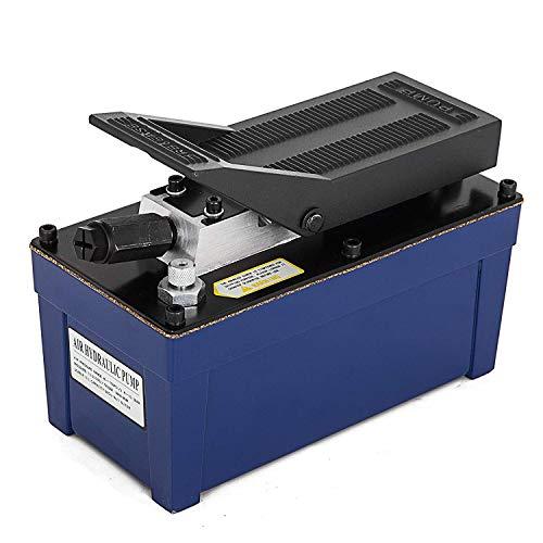 Bestauto Air Powered Hydraulic Pump 10000 psi Air Hydraulic Pump 103 Cubic in Capacity Air Hydraulic Foot Pump 3/8