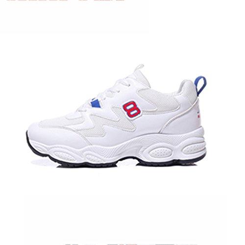 SHOES xiaolin Zapatillas de Deporte Ultra Fire Zapatillas de Deporte Femeninas Versión Coreana Soft Sister de Estudiante Blanco