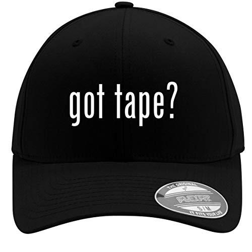 got Tape? - Adult Men's Flexfit Baseball Hat Cap, Black, Small/Medium
