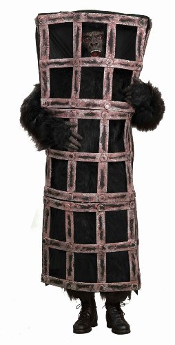 Gorilla Costumes Cage (Forum Gorilla In A Cage Costume, Brown, One Size)