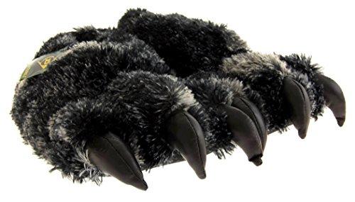 Chaussures Studio Dunlop Hommes Noir Fourrure Faux Monstre Griffe Nouveauté Pantoufles Eu 40-41