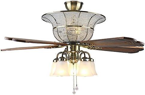 tropicalfan grande decorativo Crystal ventilador de techo Mando a ...