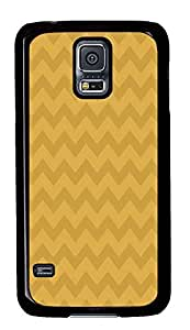 Samsung S5 thinnest case Yellow Chevrons PC Black Custom Samsung Galaxy S5 Case Cover