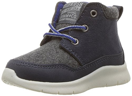 Oshkosh B'Gosh Boys' Cube Athleisure Shoe Sneaker, Navy/Grey, 10 M US Toddler
