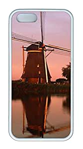 iPhone 5S TPU White Color Soft iPhone Case Latest style Case Suit iPhone5/5S Very Nice And Ultra-thin Case Easy To Operate Large Windmill