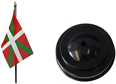 País vasco región de mesa bandera con base España Euskal Herria ...