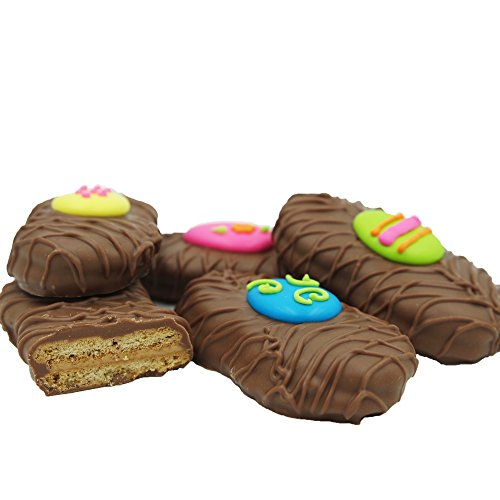 Philadelphia Candies Milk Chocolate Covered Nutter Butter® Cookies, Easter Egg Assortment Net Wt 8 oz - Green Chocolate Covered Gift Box