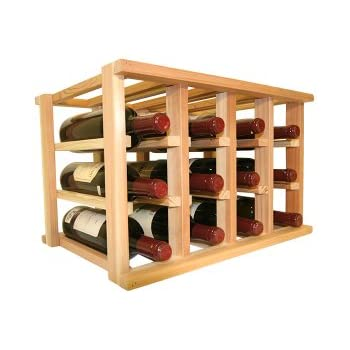 Wooden Wine Rack   12 Bottle Wine Rack   No Assembly Required   Countertop  Or Stackable