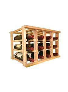 Amazon.com: Wine Cellar Innovations Wooden Wine Rack  12 Bottle Wine Rack  No Assembly