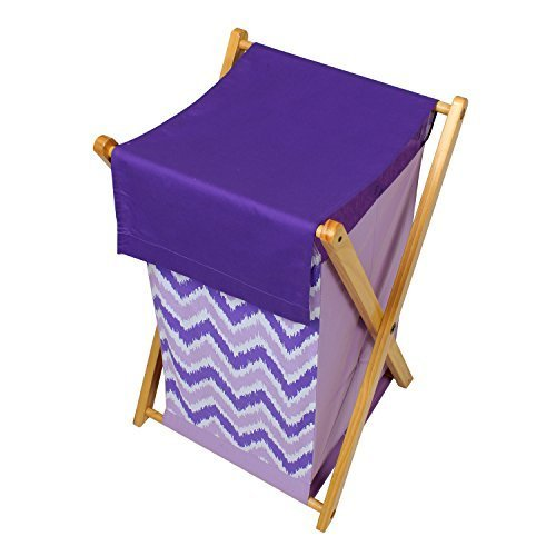 - Bacati Mix and Match Zigzag Hamper, Purple