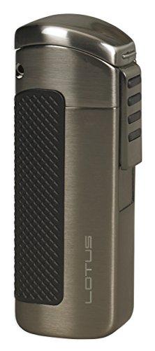 Lotus CEO Triple Torch Flame Lighter w/ Cigar Punch - Gunmetal (Satin Punch)