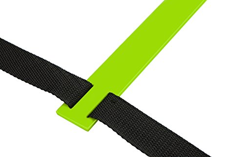 Wacces Speed Super Flat Adjustable Speed Agility Ladder for Soccer, Speed, Football, Fitness with Free Carry Bag ( 20 Rungs - Green )