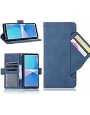 ESONG Hoesje voor iPhone 13 Pro Max Case,Flip Retro Leer Hoes,360° Protector Cover met Magnetisch,Kaartsleuf,Staande Functie Wallet Protective Case-Blauw