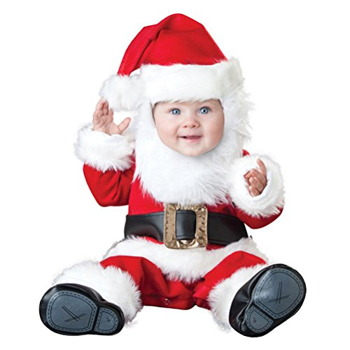 Father Christmas Costume Infant, Baby Boy Girl Cute Halloween Santa Claus Cosplay Outfit 6 Months-2T (18 Months)