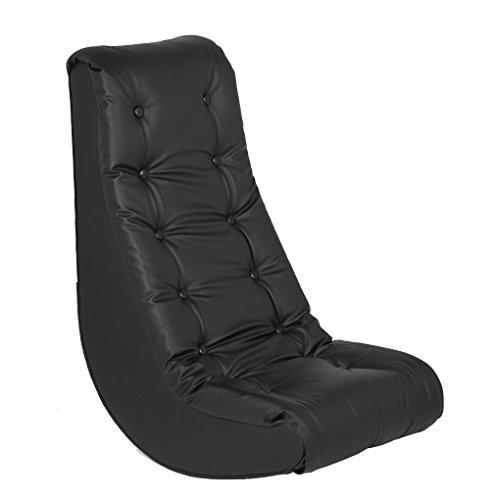ECR4Kids Soft Rocker Chair, Black