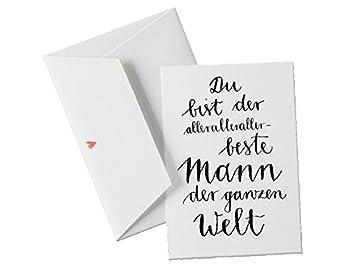 Du Bist Der Allerallerallerbeste MANN Der Welt, Spruch Glückwunschkarte  Postkarte Für Männer, Geburtstagskarte Oder