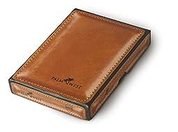 Palm West 225RFID-A- Men\'s Premium Leather, Minimalist Money Clip Bifold Wallet, RFID Blocking