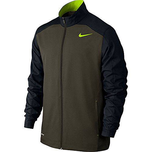 New Nike Men's Team Woven Training Jacket Cargo Khaki/Black/Volt/Volt X-Large